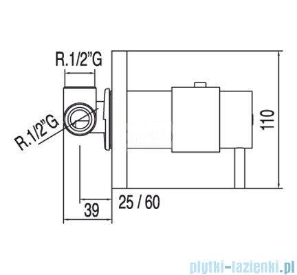 Tres Tresmostatic Bateria termostatyczna podtynkowa kolor chrom 1.90.547