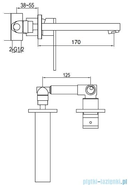 Kohlman Nexen Podtynkowa bateria umywalkowa QW185U