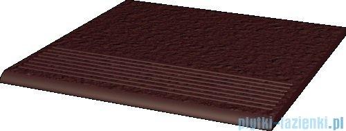 Paradyż Natural brown duro klinkier stopnica prosta 30x30