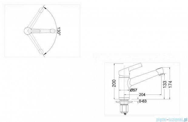 Blanco Elipso II  bateria wysokociśnieniowa kolor: antracyt 514898