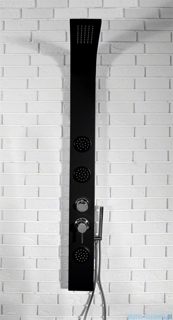 Rea panel natryskowy aluminiowy z mieszaczem czarny mat 8721Black