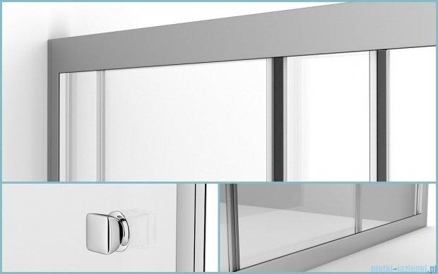 Besco Duo Slide drzwi prysznicowe przesuwne 110x195 przejrzyste DDS-110