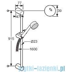 Kludi Zenta Zestaw natryskowy 3S dł.90cm czarny/chrom 6084086-00
