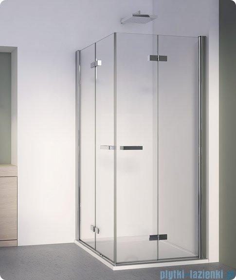 SanSwiss Swing Line F SLF2 Wejście narożne z drzwiami 70-120cm profil srebrny Prawe SLF2DSM10107