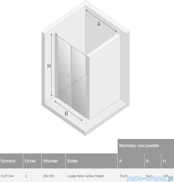 New Trendy New Soleo drzwi wnękowe dwuskrzydłowe 80x195 cm przejrzyste D-0124A