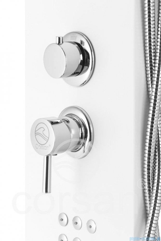 Corsan Alvo panel prysznicowy z mieszaczem Biały A-1513BIAŁY