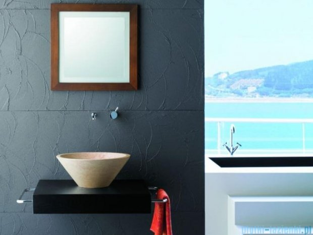 Bathco umywalka kamienna nablatowa Conico beige 40,5x16 cm 00305