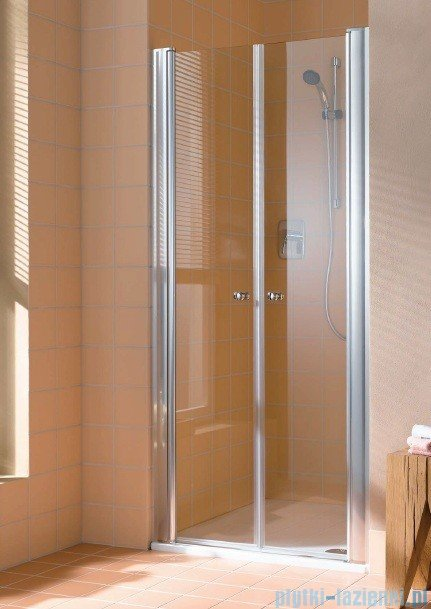 Kermi Atea Drzwi wahadłowe, szkło przezroczyste, profile białe 120cm ATPTD120182AK