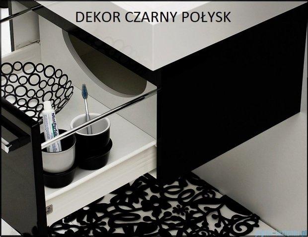 Antado Variete Szafka z lustrem 60x15x75 czarny połysk FM-116CH-9017