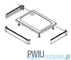 SanSwiss PWIU Obudowa brodzika 3-stronna 80x160cm biała PWIU801608004