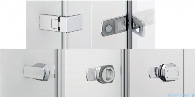 Sanswiss Melia ME31P Kabina prysznicowa prawa 90x75cm przejrzyste ME31PD0901007/MET3PG0751007