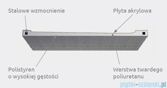 Radaway Doros Plus F Brodzik prostokątny 140x80x5,5cm SDRFP1480-01