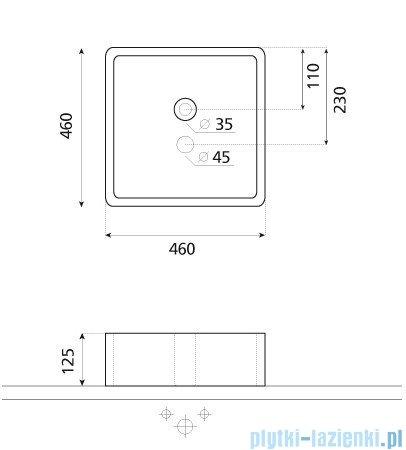 Bathco umywalka nablatowa Isla 46x46 cm 0017C