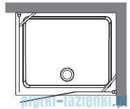 Kerasan Kabina prostokątna lewa, szkło przejrzyste profile brązowe 80x96 Retro 9142T3