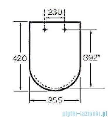 Roca Dama-N compacto Deska WC twarda wolnoopadająca biała A80178C004