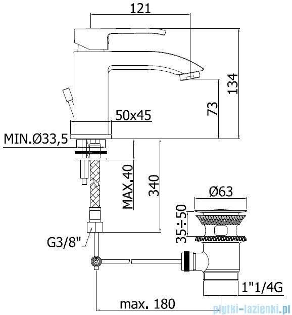 Paffoni Bateria umywalkowa Level Standard LES075