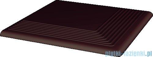 Paradyż Natural brown klinkier stopnica narożna 30x30