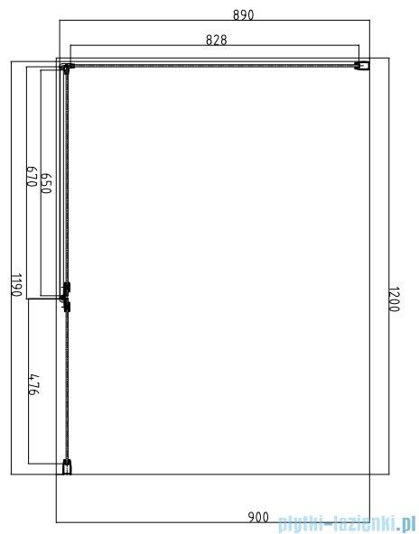 Omnires Manhattan Kabina prostokątna 3M™ Easy Clean 90x120x195cm szkło przejrzyste ADC92XLUX-T