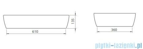 Cerastyle One umywalka 67x42,5cm nablatowa 076200