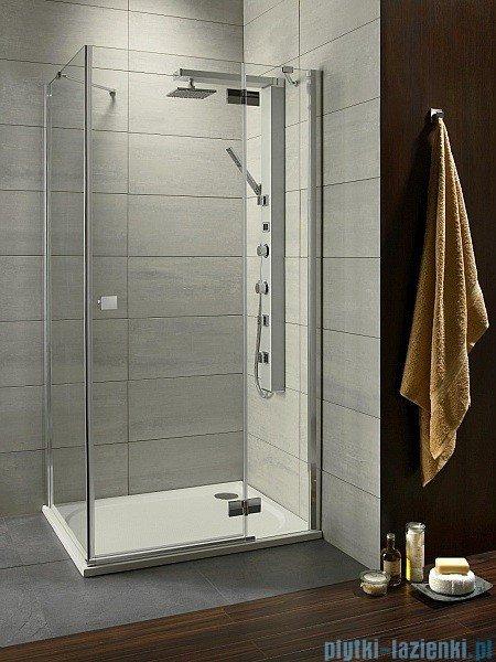 Radaway Kabina prysznicowa Almatea KDJ 100x90 prawa szkło przejrzyste + brodzik Doros D + syfon 32143-01-01NR