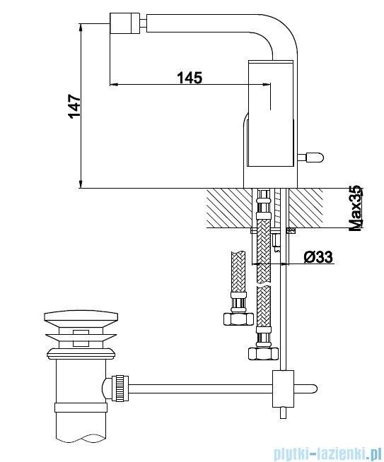 Kohlman Saxo bateria bidetowa QB130S