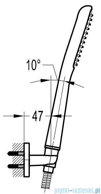 Omnires słuchawka prysznicowa 1-funkcyjna chrom HUDSON X-P