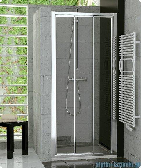 SanSwiss Top-Line TOPS3 Drzwi 3-częściowe 70-120cm profil biały TOPS3SM20407