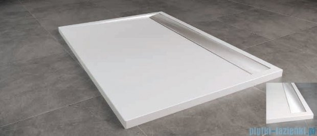 SanSwiss WIA Brodzik konglomeratowy prostokątny 90x160cm biały/połysk WIA901605004