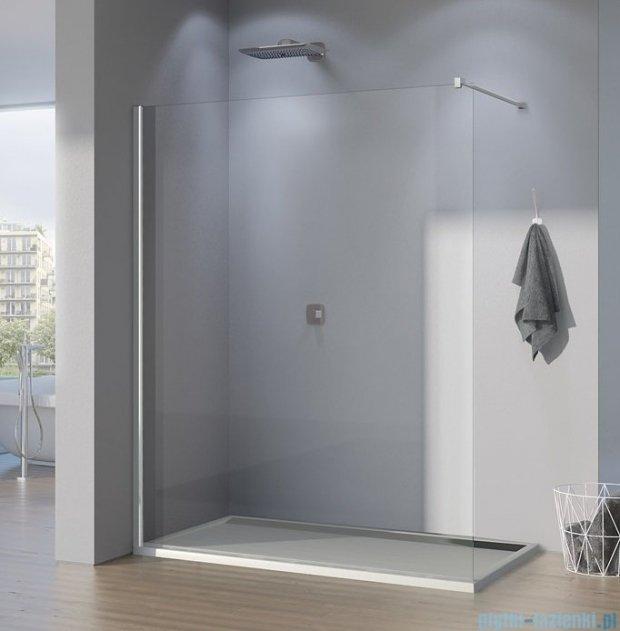 SanSwiss Pur PDT4P Ścianka wolnostojąca 90cm profil chrom szkło Satyna PDT4P090149