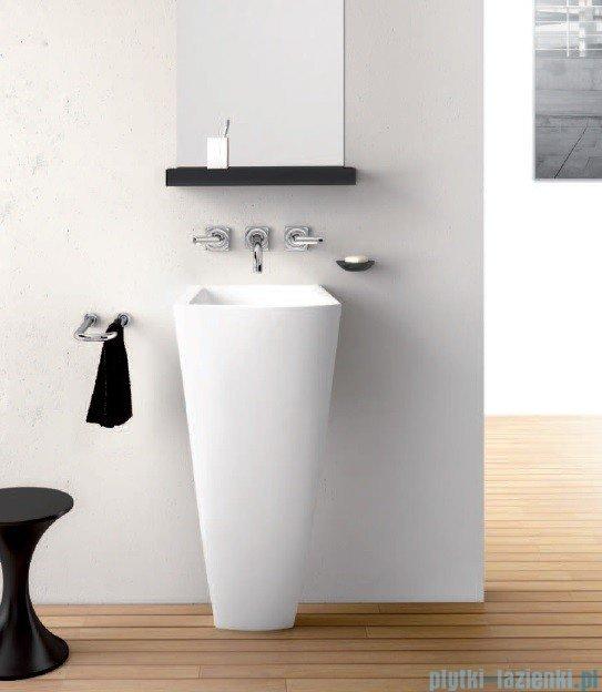 Marmorin umywalka stojąca Waver bez otworu biała 470040020010