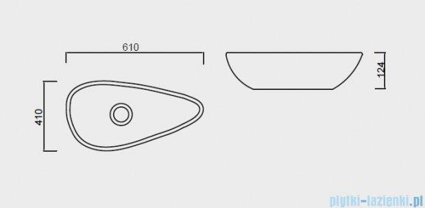 Antado Conti umywalka ceramiczna 59x37cm UCT-TP-37x59