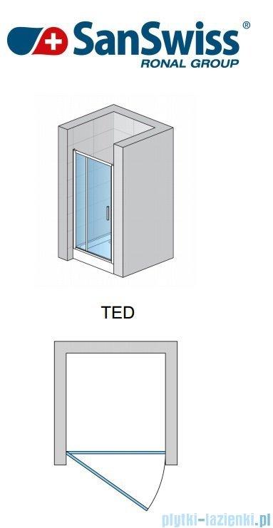SanSwiss Top-Line TED Drzwi 1-częściowe 70-140cm profil biały TEDSM10407