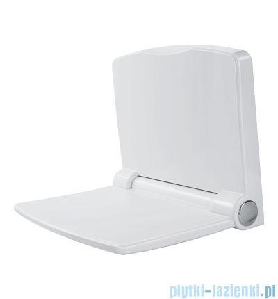 Omnires siedzisko ścienne do kabiny prysznicowej wolnoopadające białe Yogi1