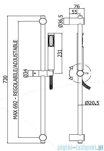 Paffoni Zestaw natryskowy Stick New ZSAL150