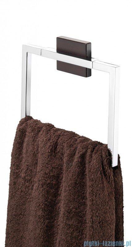 Tiger Zenna Wieszak ręcznikowy ring chrom/wenge/ceramika 3514.83