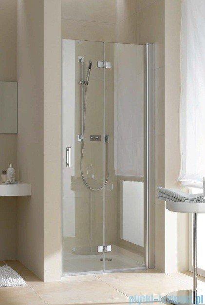 Kermi Diga Drzwi wahadłowo-składane, prawe, szkło przezroczyste, profile białe 80x200 DI2DR080202AK