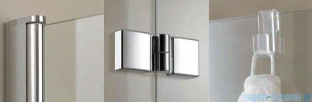 Kermi Diga Parawan na wannę, prawy, szkło przezroczyste, profil biel 120x150 DI2PR120152AK