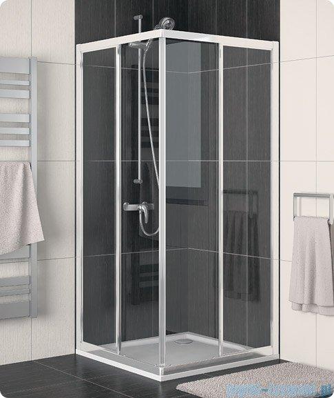 SanSwiss Eco-Line Wejście narożne Eco 100cm profil połysk szkło przejrzyste Lewe ECOG10005007