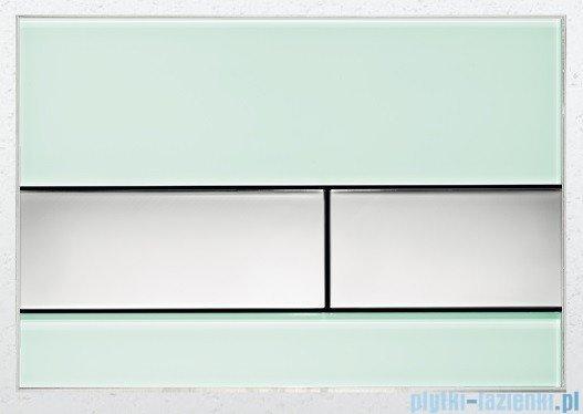 Tece Przycisk spłukujący ze szkła do WC Tecesquare szkło zielone przyciski chrom połysk 9.240.805