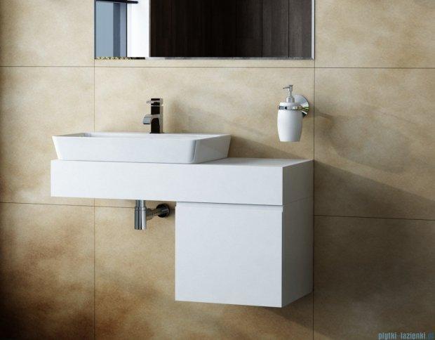 Antado Combi szafka lewa z blatem lewym i umywalką Bali biały ALT-141/45-L-WS+ALT-B/2L-1000x450x150-WS+UCS-TC-65