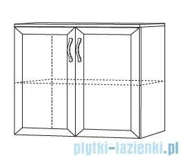 Antado Rustic szafka podumywalkowa z drzwiczkami i umywalką 75x43cm RST-141/75-14 + UCS-AT-75