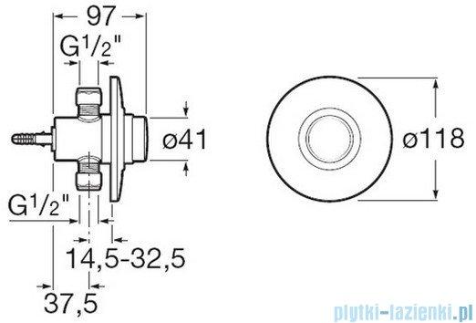 Roca Sprint-N Podtynkowy zawór ciśnieniowy do natrysku chrom A5A2624C00