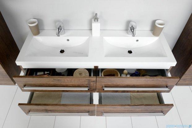 Antado Spektra szafka z umywalką, wisząca 120cm stare drewno FDF-C-442/6/2GT-50 + FDF-C-442/6/2GT-50 + UMMC-1200x390D