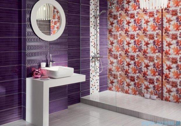 Tubądzin Wave modern violet dekor ścienny 22,3x44,8