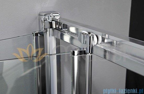 Massi Case drzwi prysznicowe składane 80x185cm przejrzyste MSKP-FA920-80