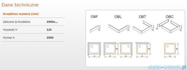 Sanplast Obudowa frontowa do brodzika OBF 100x12,5 cm 625-401-0330-01-000