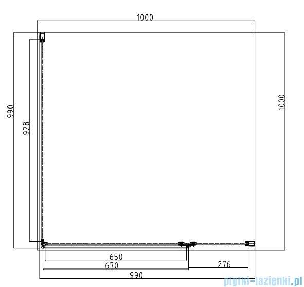Omnires Manhattan kabina kwadratowa 3M™ Easy Clean 100x100x195cm szkło przejrzyste + brodzik ADC10XLUX-T/3.062