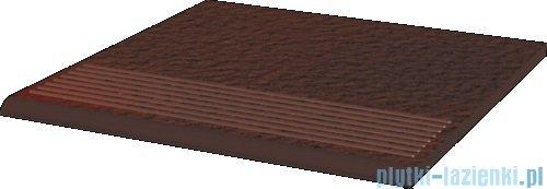 Paradyż Cloud brown duro klinkier stopnica prosta 30x30