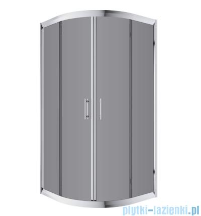Omnires Health kabina 2-skrzydłowa 90x90x185cm szkło grafit JK2809LC2Grafit