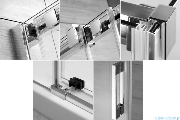 Radaway Espera KDJ Kabina prysznicowa 100x80 lewa szkło przejrzyste + Brodzik Argos D + syfon 380130-01L/380148-01R